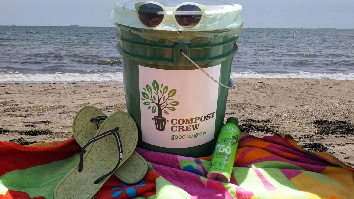 Summer time, and the composting's easy…